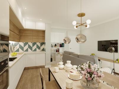 Ремонт кухни-гостиной в современном стиле